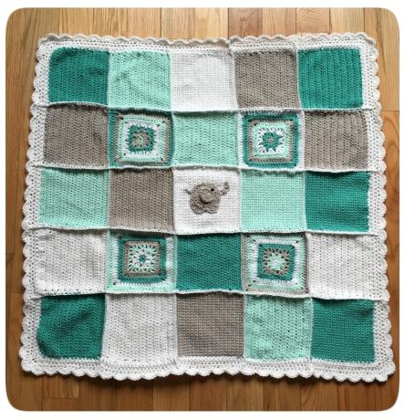 Lucky Elephant Baby Blanket
